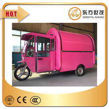 Motorcycle tricycle food cart for coffee for fast food
