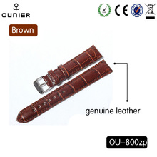 Cheap quartz watches genuine leather bands men fashion watch band