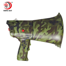 Patrol alarm camouflage High power rescue Outdoor lighted recording megaphone