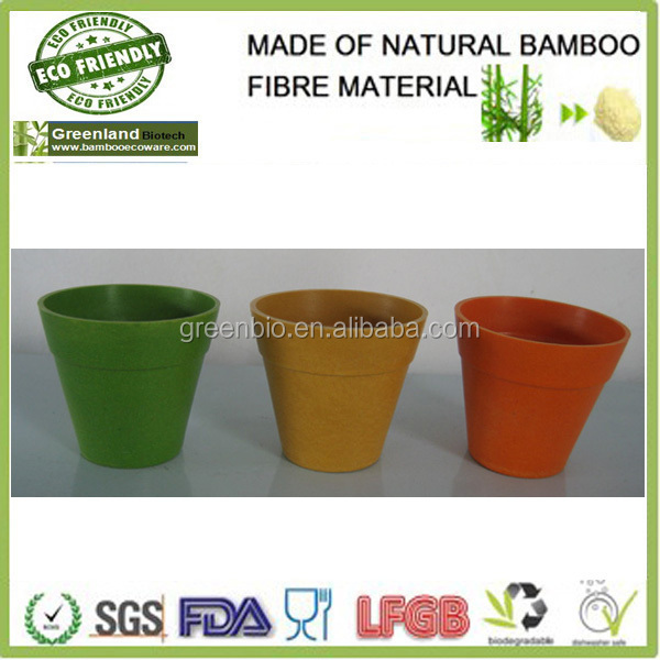 Cheap Home Bamboo Fiber Garden Flower Pot,Lighted Indoor&Outdoor Flower Pot