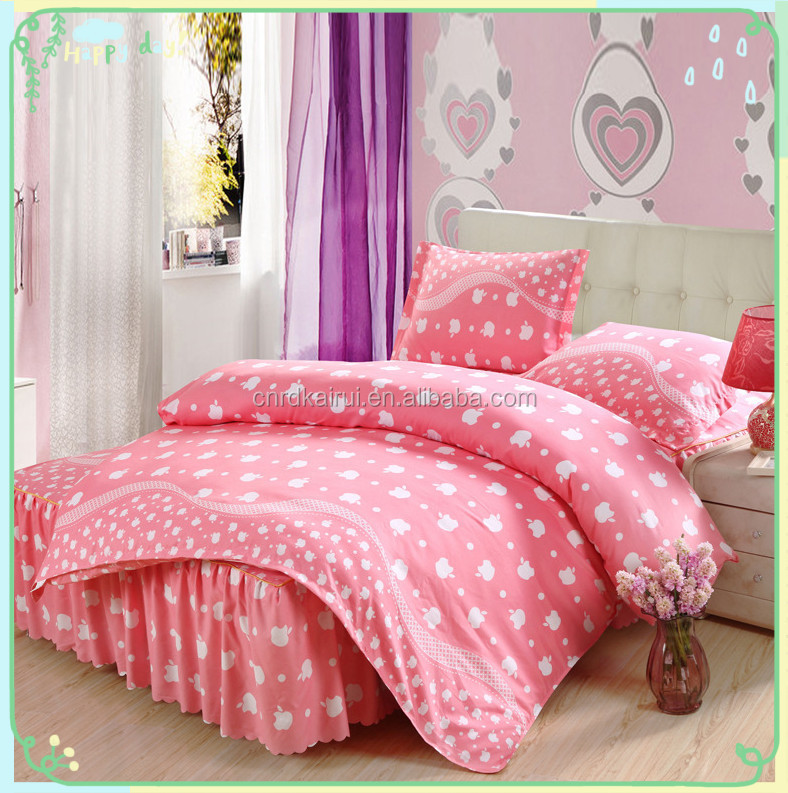 Hot selling cheap colorful elephant Polyester/Cotton pigment printed 4 pcs bedding set duvet covers with matching curtains