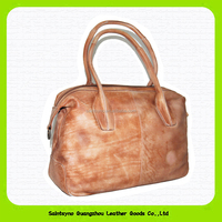 15052A Vintage look and fashion leather women's bag handbag