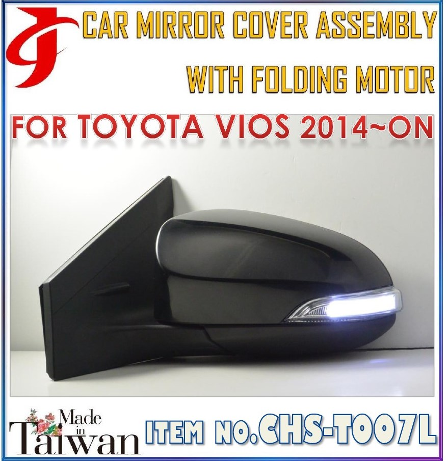 Car Body Parts For TOYOTA VIOS Rear View Assy Folding Mirror Cover