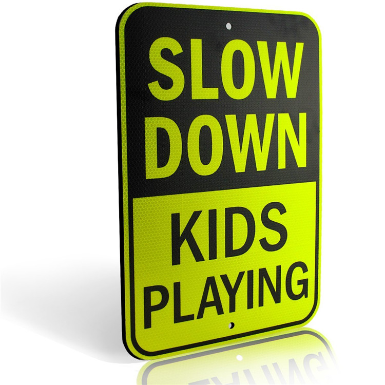 Durable Slow Down Kids Playing Yard Road Traffic Safety Signs