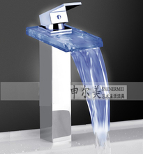 classic led basin glass water faucet/glass filler faucet
