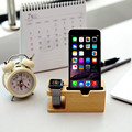 wholesale Bamboo Charging Dock Station Bracket Cradle Stand Phone Holder for phone watch