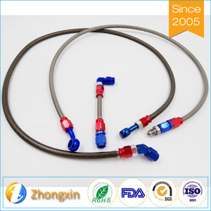 Flexible motorcycle low friction coefficient PTFE SS304 braided brake hose assembly