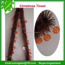 Wholesale Skull/Pumpkin PET Tinsel For Halloween