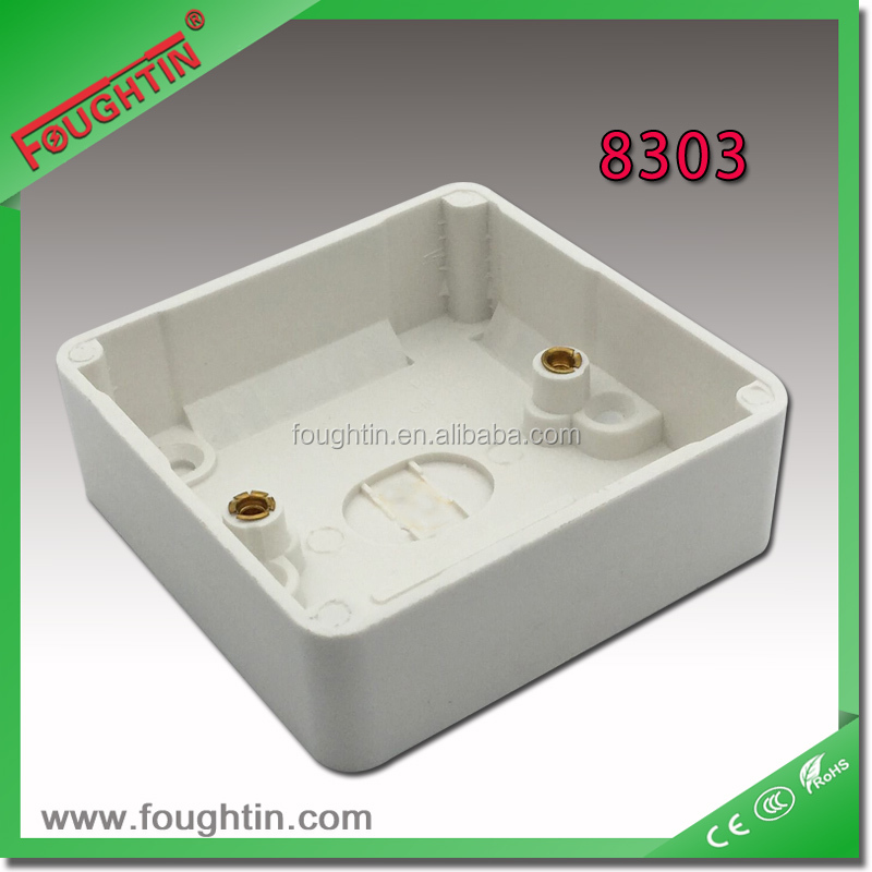 electrical junction box 86*86 connection box white color plastic box