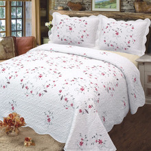Patchwork embroidery cotton quilted turkish bedspread