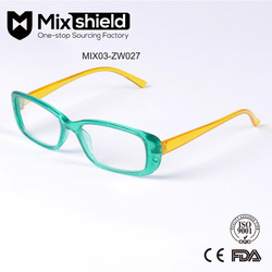 Fashionable Plastic Women Designer Eyewear Glasses Frame