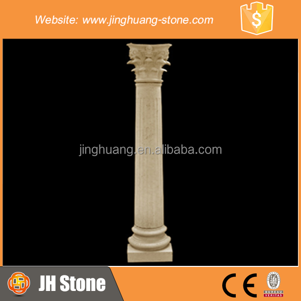 Marble stone carving decorative solid column pillar for hotel decoration