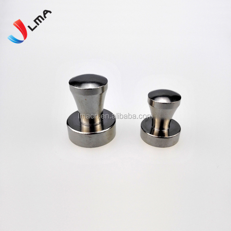 LMA Silver Metal push pin magnets with strong force