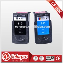 Compatible for canon MX328/MX338 printer for inkjet cartridge PG810 CL811 reman ink cartridge