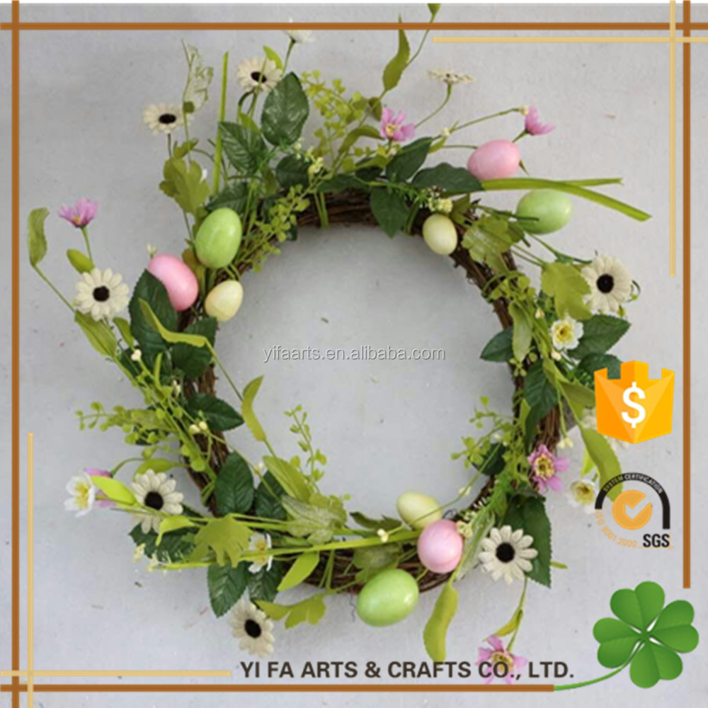 20 Outsida Dia easter egg decorated wreath artificial easter flower Wreath