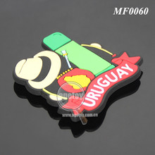 Soft Rubber Injection Molding Camping Sports Bottle Bag Cap Eco-friendly Soft PVC Custom Personalized Fridge Magnet