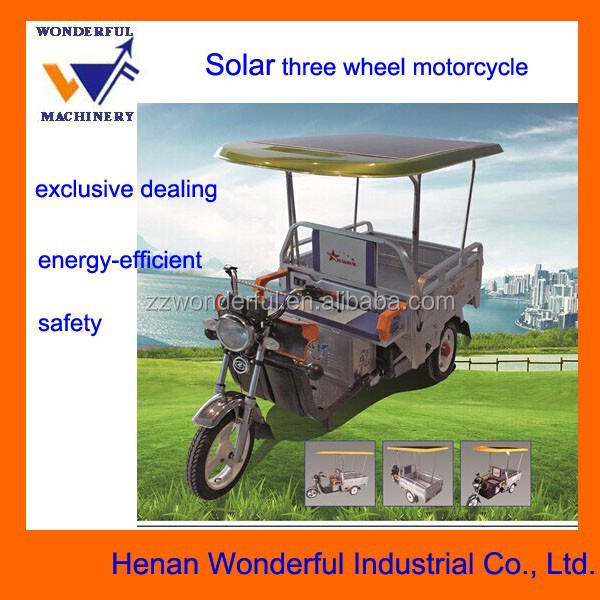 New solar electric three wheels transport vehicle