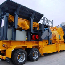 mobile crushing plant mobile stone crusher machine CE certificated