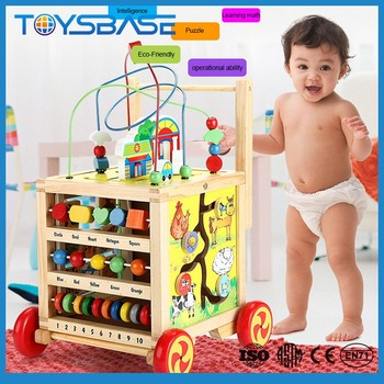 New Products 2017 kids 3D educational sliding block car jigsaw puzzle game wooden toy