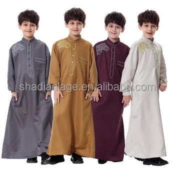 Kaftan boys Islamic Long Robe in Dubai abaya for kids Long sleeve in pakistan