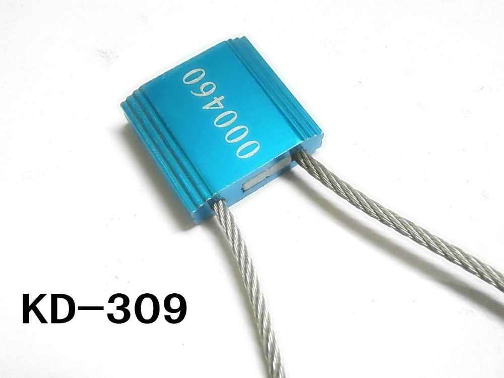 2.5mm wire Numbered Cargo container seal cable security lock KD-309