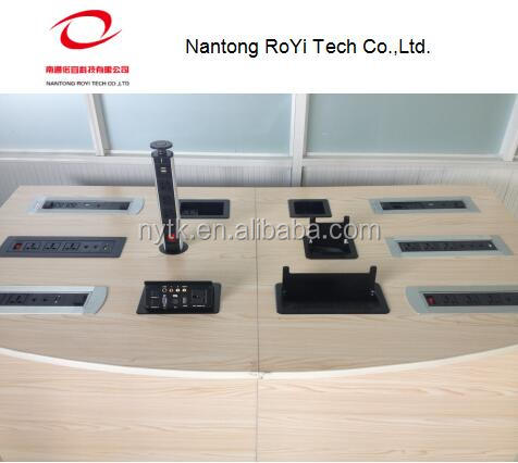 meeting table hidden socket outlet with HDMI VGA RJ11 RJ45 AUDIO VIDEO USB CHARGE XLR CANNON