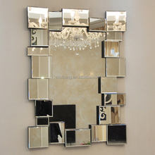 2016 home decoration modern oblong 3d mirror wall mirror