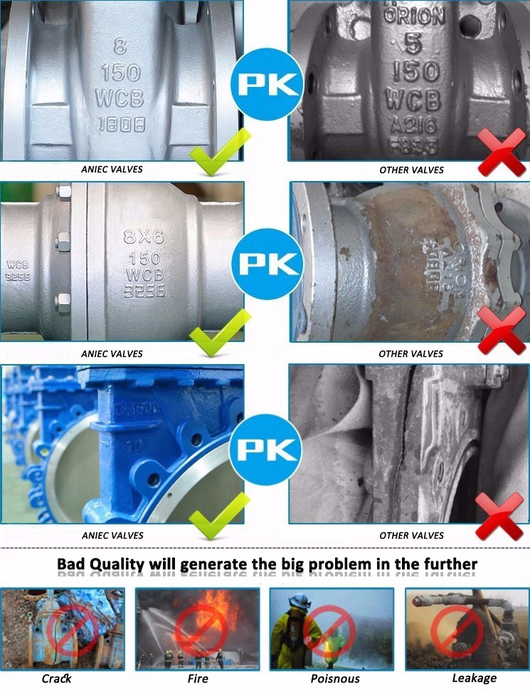 Cast Iron Non-rising Stem Wedge Type Metal Seal Gate Valve Z45T Z945T