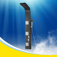 s.s black shower panel with massage Y-052