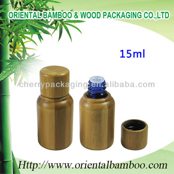 15ml glass oil bottles cosmetic packaging bamboo serum oil bottle 15ml empty essential oil bottle