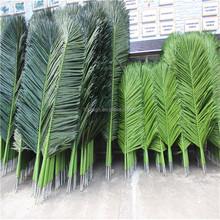 Plastic artificial palm tree leaves products for sales
