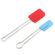 FDA Chinese Custom Superior Quality Silicone Rubber Spatula Set With Wood/Stainless Steel Handle