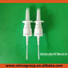 nasal spray bottle pump with neck size 18mm or 20mm