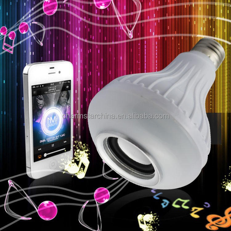 New Hot RGB E27 Wireless LED Bluetooth Audio Speaker/ Music Playing Lighting Bulb Louder Speakers