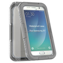 For samsung s7 waterproof hybrid pc+silicon combo mobile phone cover case