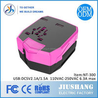 Suppliers Promotional Travel Universal Power Adapter with USB Port with Your Custom Imprint Logo