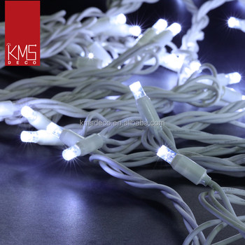 220-240v outdoor white rubber cable led christmas string lights 5m 40Led cool white