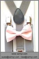 pink kids pre tie bow ties and suspenders and bow-tie bowtie for boy