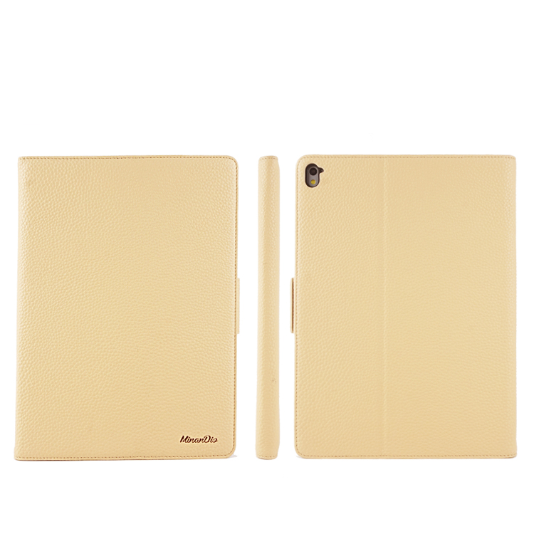 Luxury Genuine cowhide leather+ pc Hard tablet case with ultra slim + stand function design for ipad