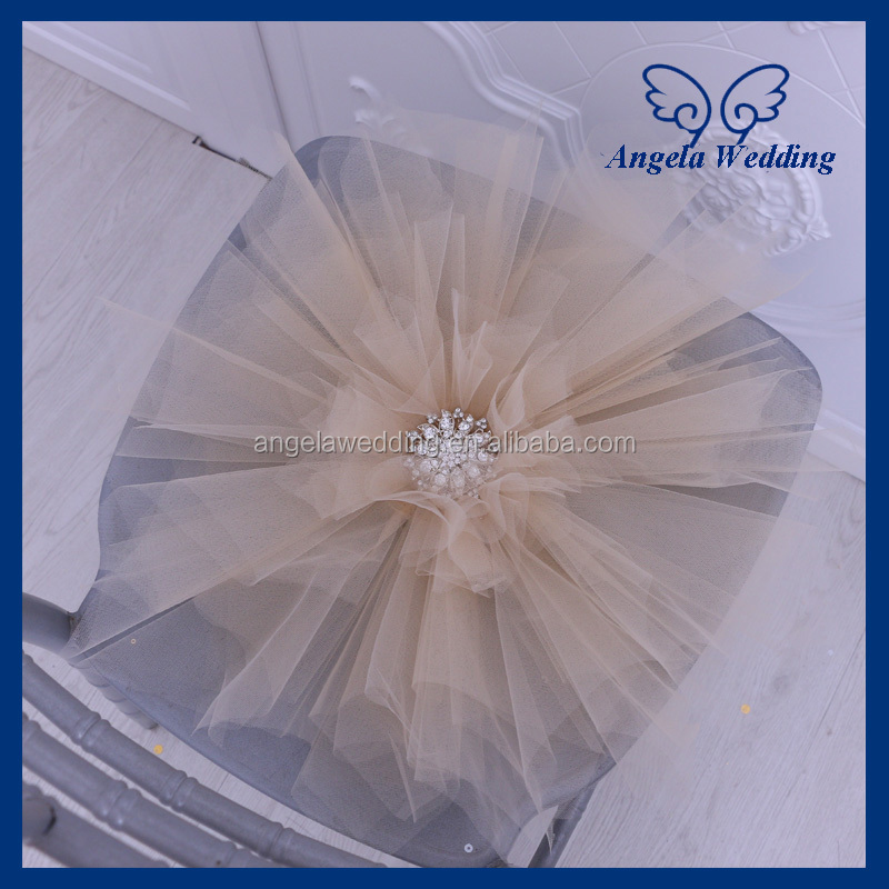 CH089B 2017 new arriaval party weding large baby pink tulle chair flower with crystal