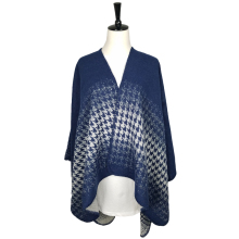 Wholesale Gradient Color Tartan Scarf Shawl Wrap Winter Cardigan Kimono Robe