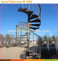 outdoor wrought iron spiral stair