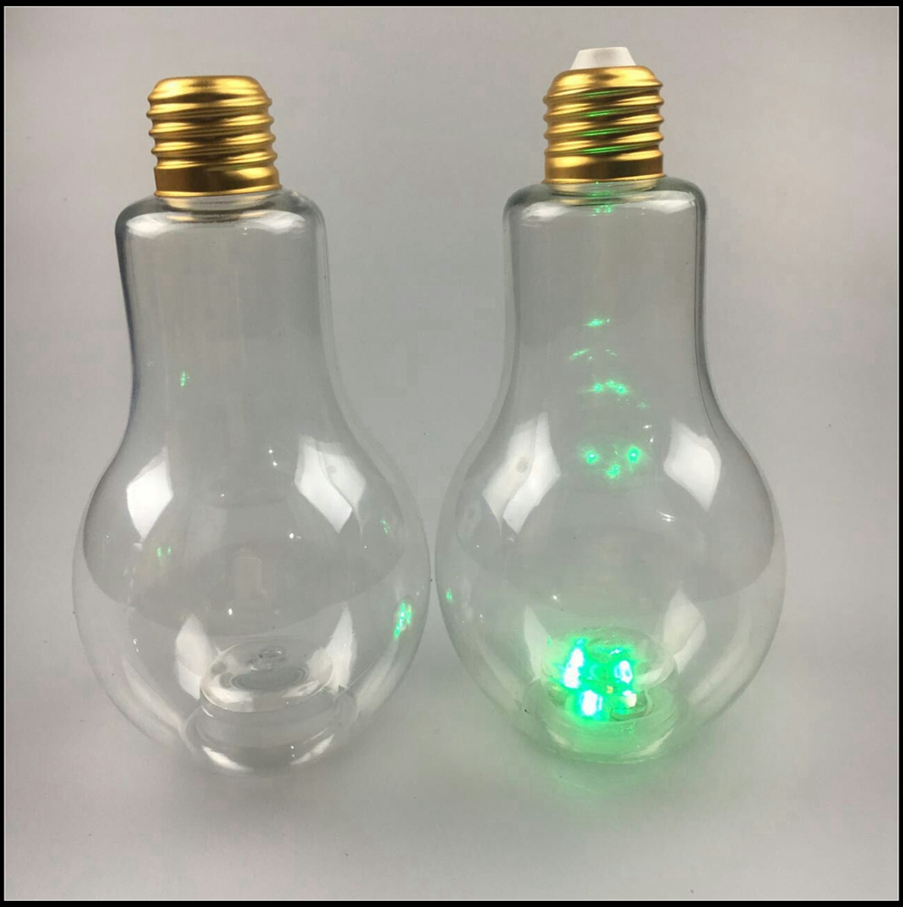 High quality led light bulb bottle plastic with cap