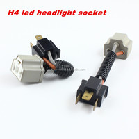 H4 Ceramic Socket Connector 9003 Heavy Duty Wiring Harness Light Bulb Adapter For Headlights or Fog Lights
