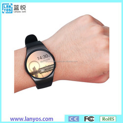 2016 High Quality Wholesale KW18 Smart Watch, IPS Round touch Screen Smart Watch with Heart Rate Monitor