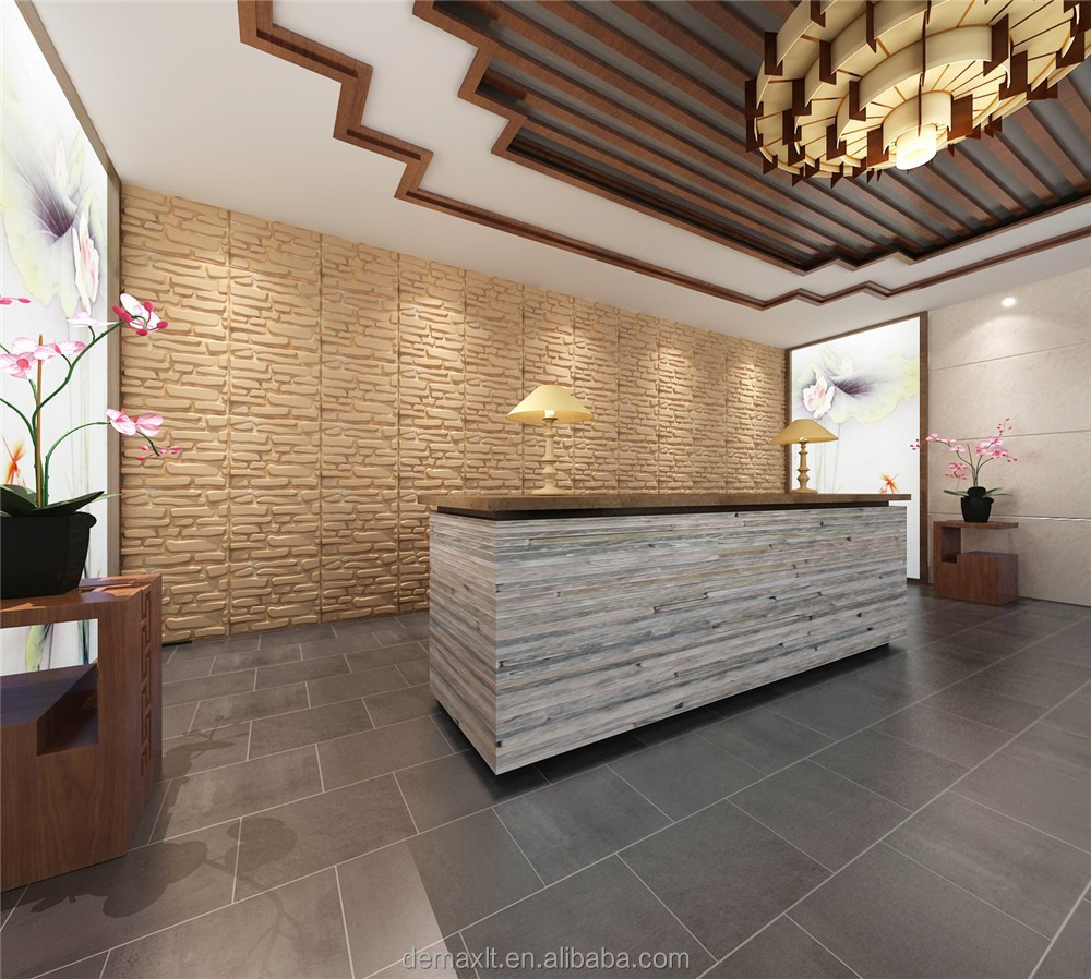 3D wall panel /Hall wall decorations/3d wall panel bamboo