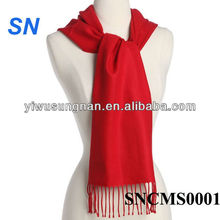 Hot sell fashion solid color 100% cashmere scarf