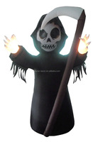 270cm/9ft inflatable reaper with a sickle in his hand for halloween decoration