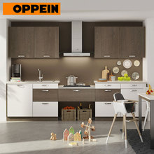 OPPEIN Melamine Board Carcase Material Wall Cabinets Wood Grain Flat Pack Kitchen