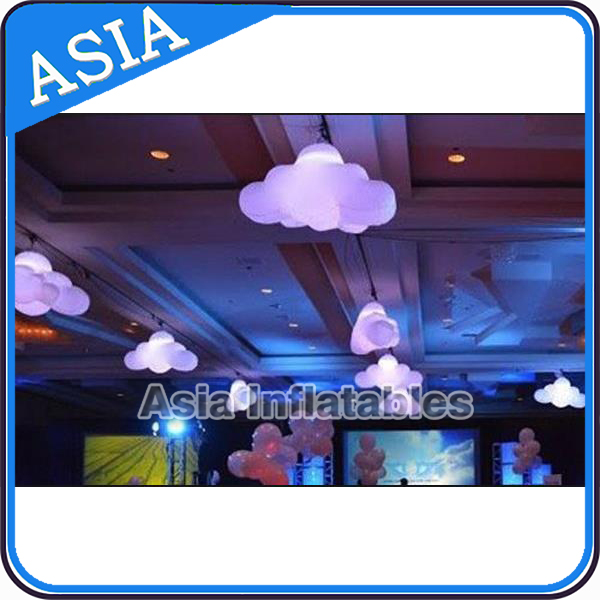 Decoration Inflatable Hanging Clouds Shaped Helium Balloons Inflatable Cloud With LED